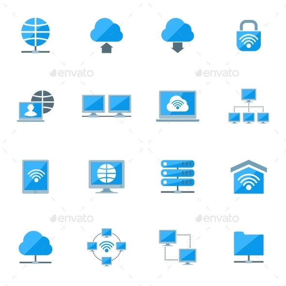 Network Icons Set - Computers Technology