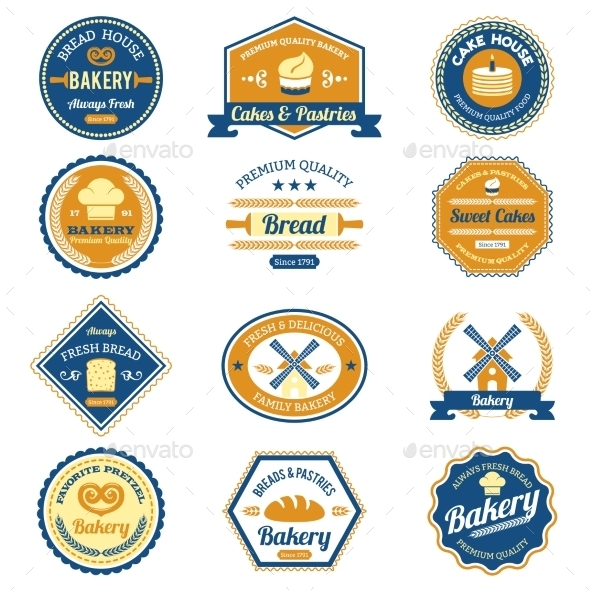 Cupcake Bakery Labels - Food Objects