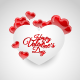 Happy Valentines Day Hearts - GraphicRiver Item for Sale