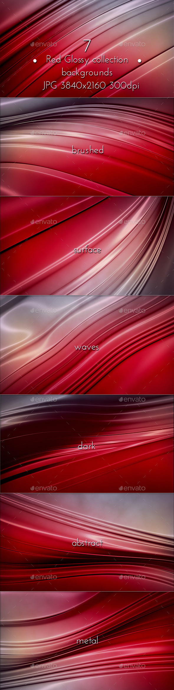 Red Glossy Surface - 3D Backgrounds