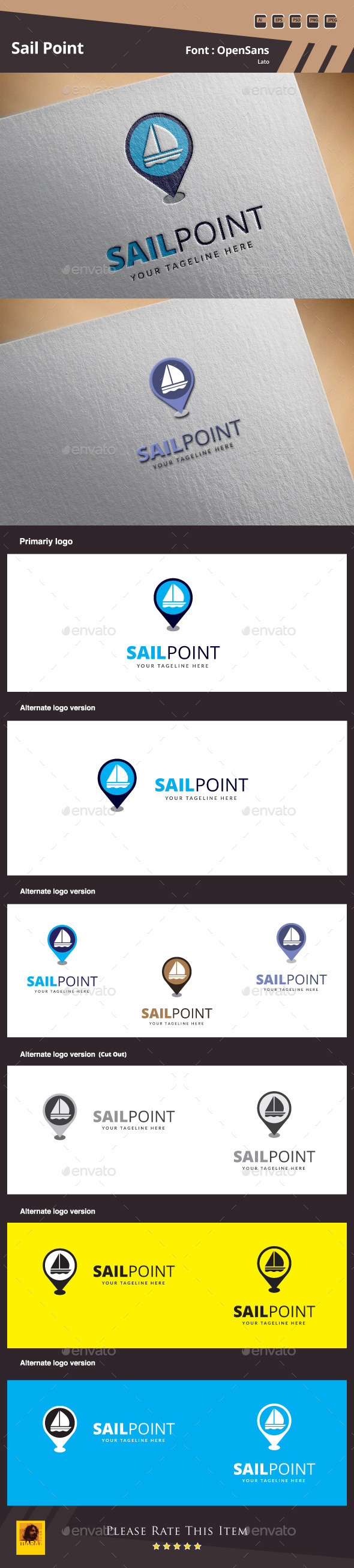 Sail Point Logo Template - Symbols Logo Templates