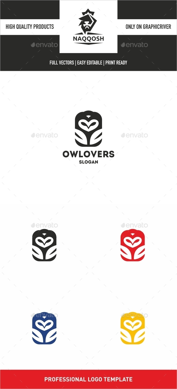 Owl Lovers - Logo Templates