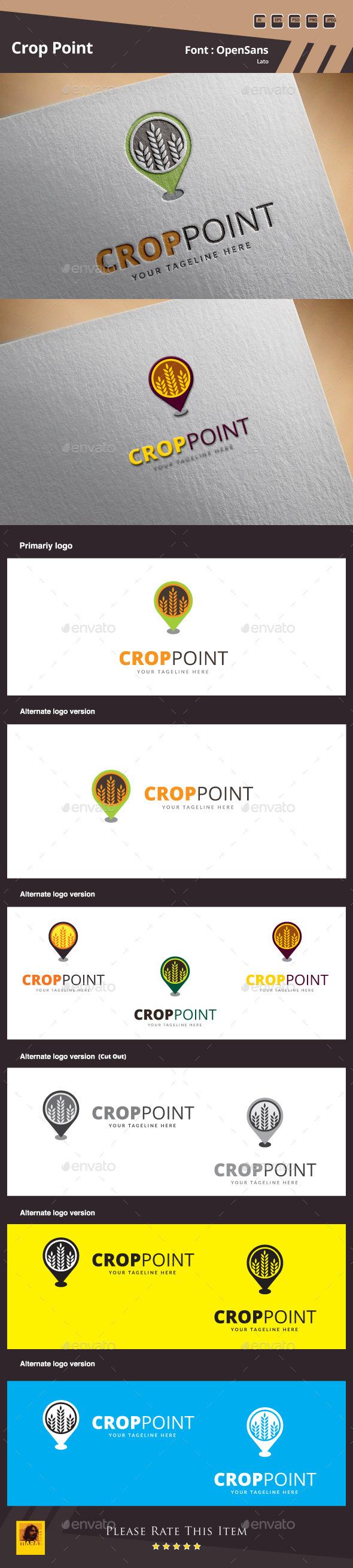 Crop Point Logo Template - Food Logo Templates