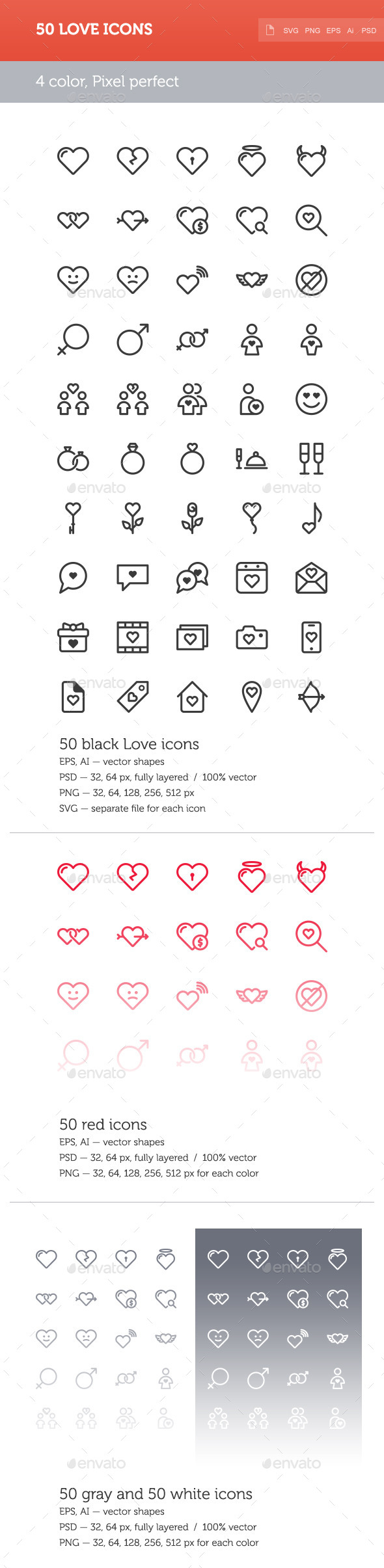 Love Icon Set - Icons