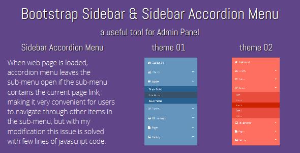 Bootstrap Sidebar & Sidebar Accordion Menu - CodeCanyon Item for Sale