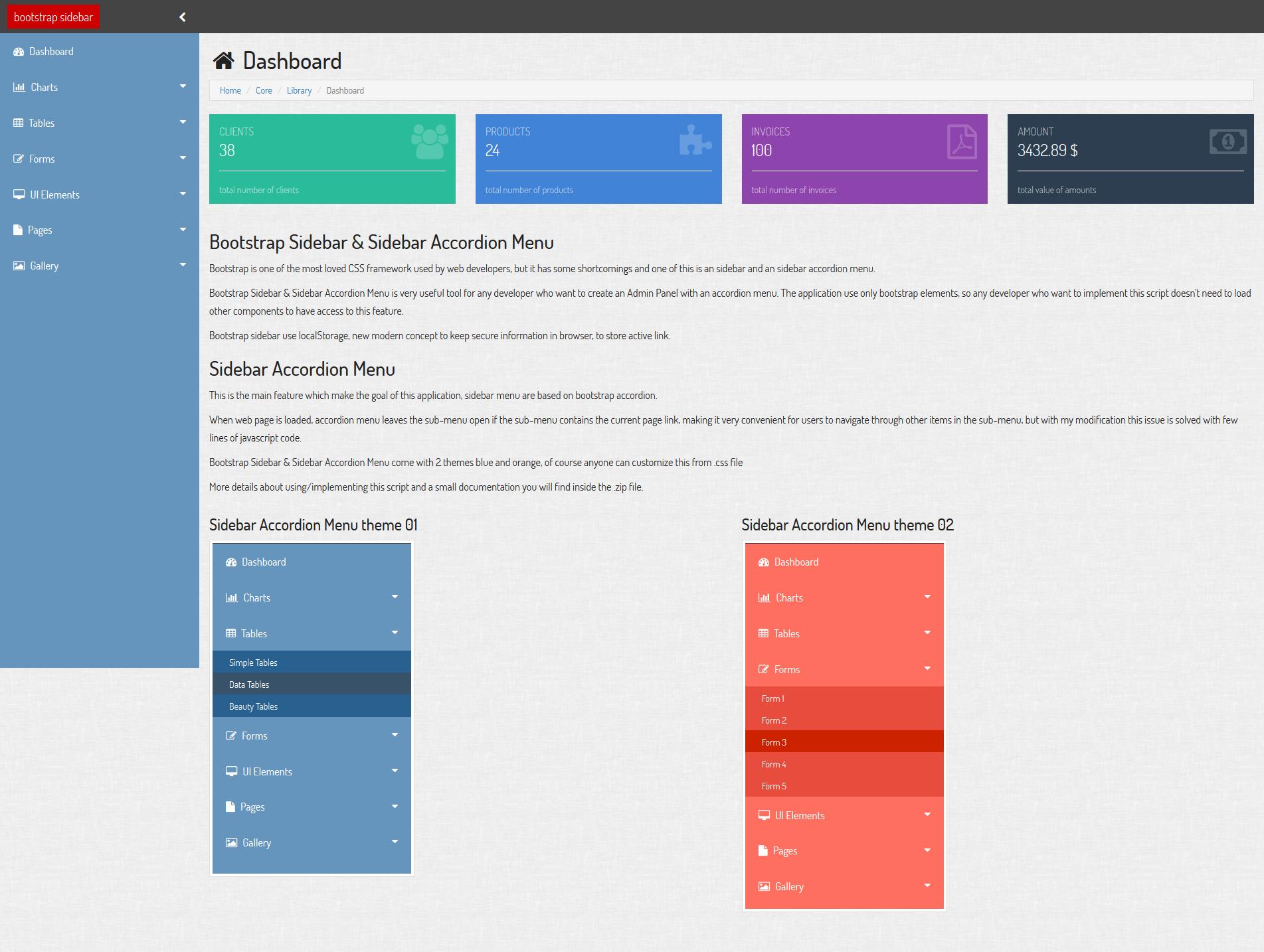 bootstrap sidebar sidebar accordion menu by solutii soft codecanyon. Black Bedroom Furniture Sets. Home Design Ideas
