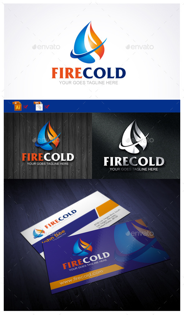 Fire Cold - Symbols Logo Templates