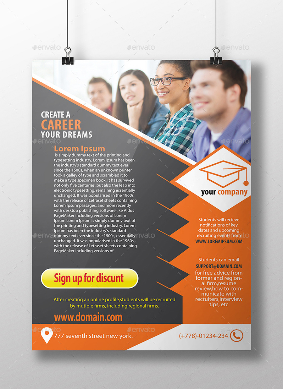 educational flyer by elite designer