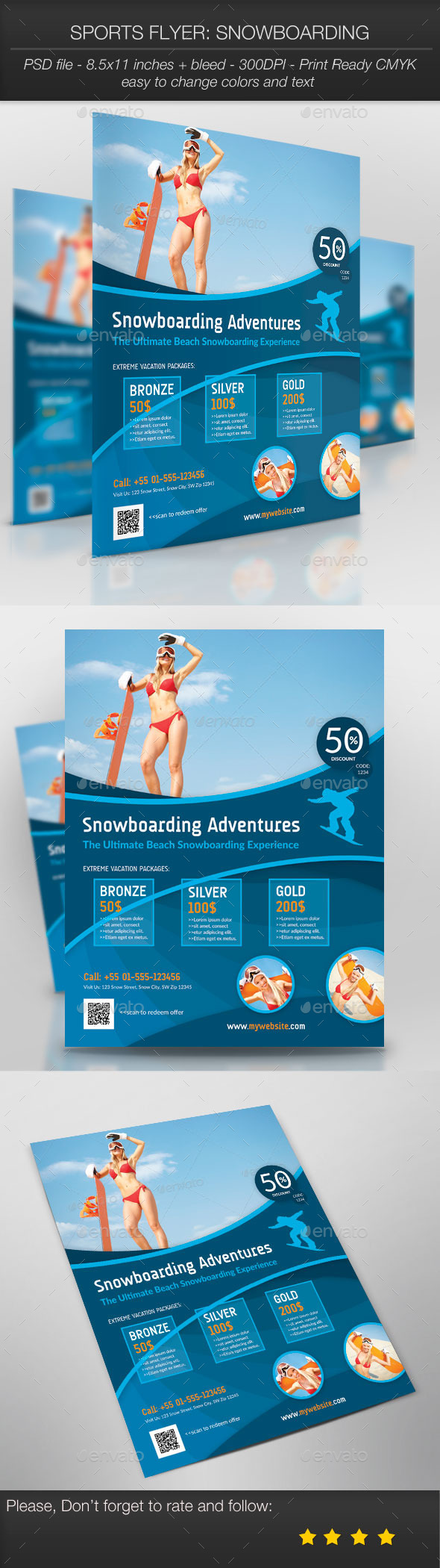 Sports Flyer: Snowboarding - Sports Events