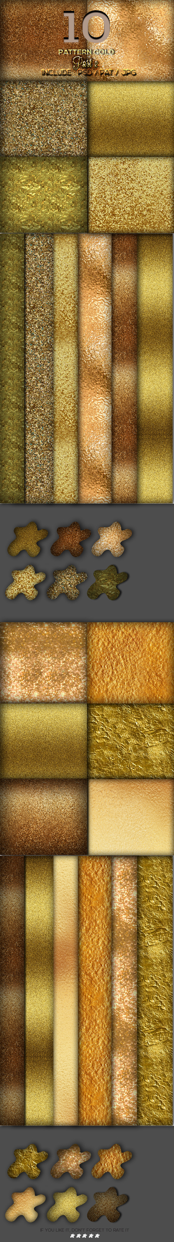 10 Gold Pattern Part 2 10 Gold Pattern Part 2  - Textures / Fills / Patterns Photoshop