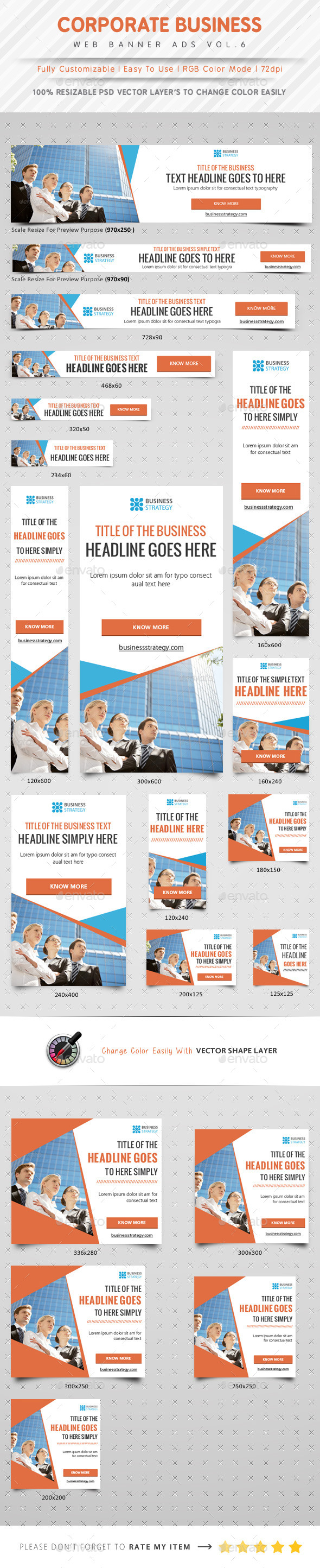 Corporate Web Banner Ads Vol.6 - Banners & Ads Web Elements