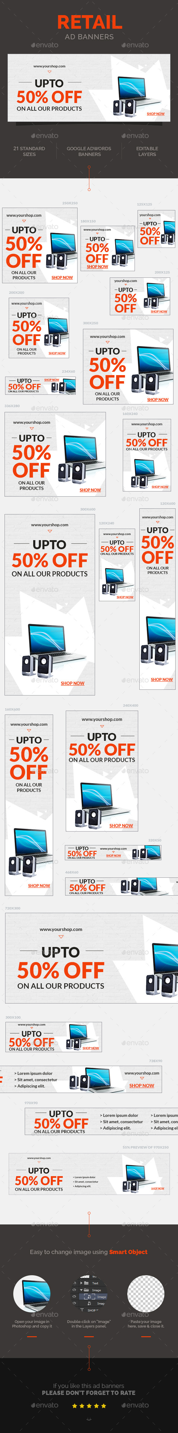 Retail Ad Banners - Banners & Ads Web Elements