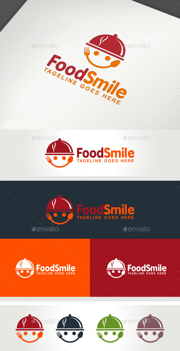 Food Smile - Food Logo Templates