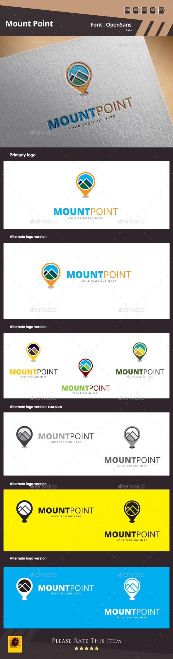 Mount Point Logo Template - Nature Logo Templates