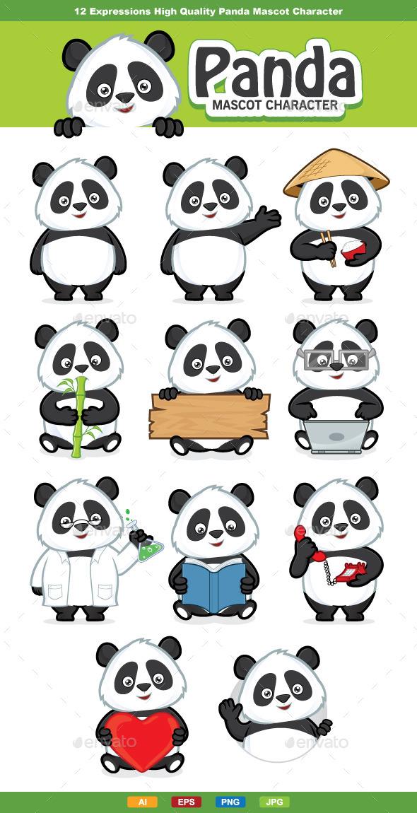 Panda Mascot Character - Animals Characters