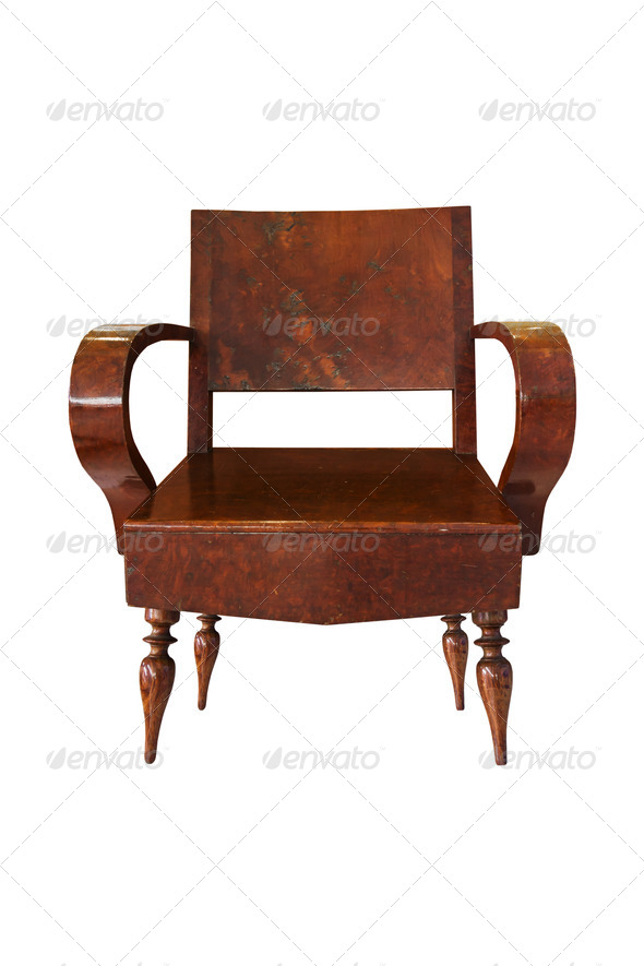 Old Wooden arm chair - Stock Photo - Images