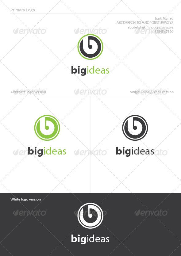 Big Ideas - Letters Logo Templates