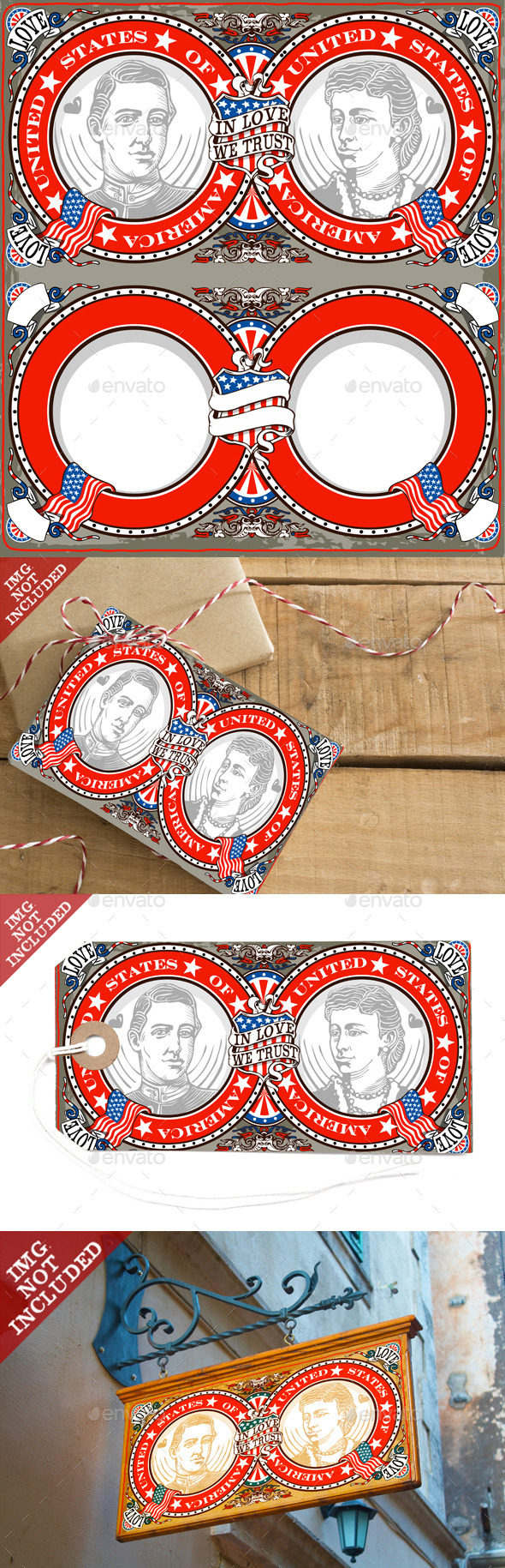 American Vintage Patriot Wedding Invite - Weddings Seasons/Holidays
