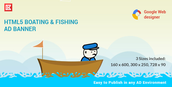 Fishing and Boating | HTML 5 Animated Banner - CodeCanyon Item for Sale