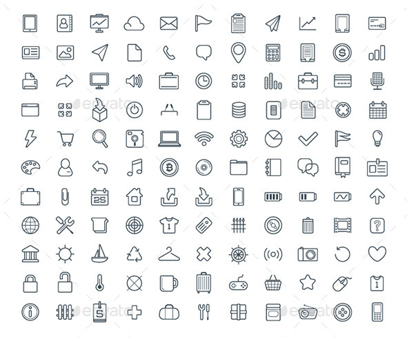 120+ Vector Icons Set - Icons