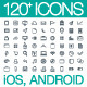 120+ Vector Icons Set - GraphicRiver Item for Sale