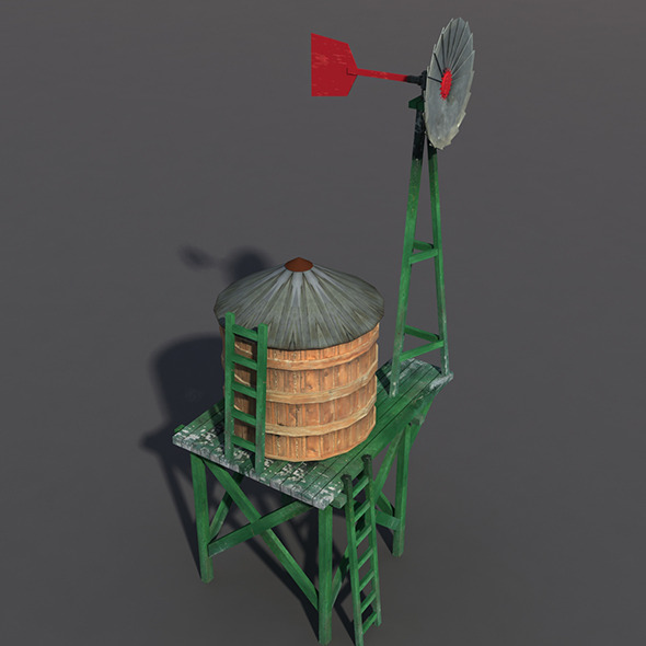 Water Tank #2 - 3DOcean Item for Sale