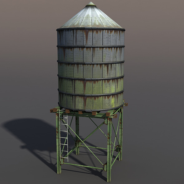 Water Tank - 3DOcean Item for Sale