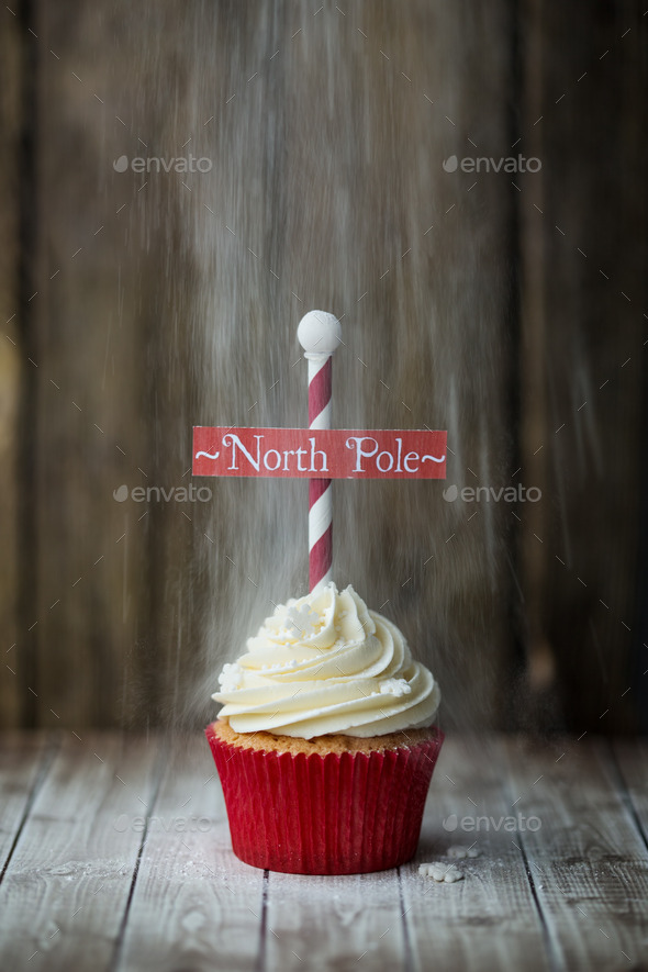 North Pole cupcake - Stock Photo - Images