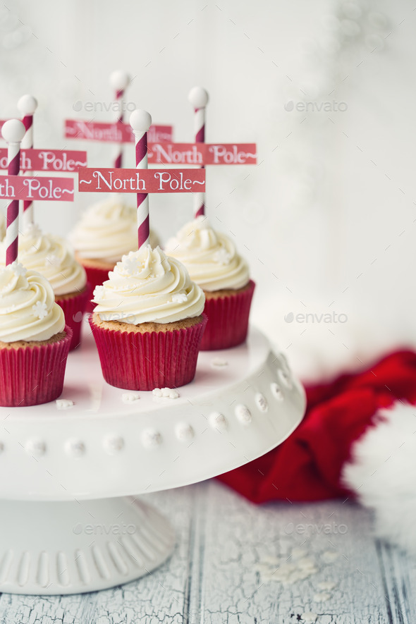 North Pole cupcakes - Stock Photo - Images