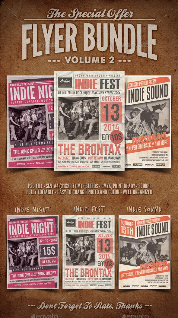Flyer Bundle Vol.2 - Concerts Events