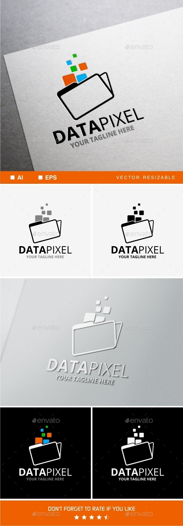 Data Pixel Logo - Objects Logo Templates