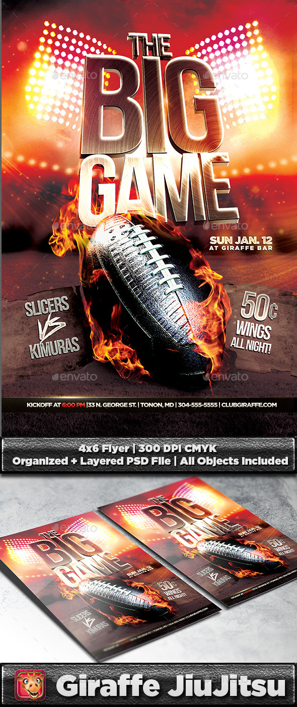 The Big Game Football Flyer Template - Sports Events