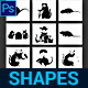 Rat Custom Shapes - GraphicRiver Item for Sale