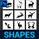 Deer Custom Shapes - GraphicRiver Item for Sale