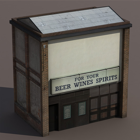 Store House Low Poly 3d Model - 3DOcean Item for Sale