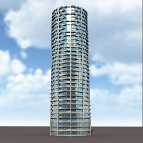 Skyscraper #9 Low Poly 3d Model - 3DOcean Item for Sale