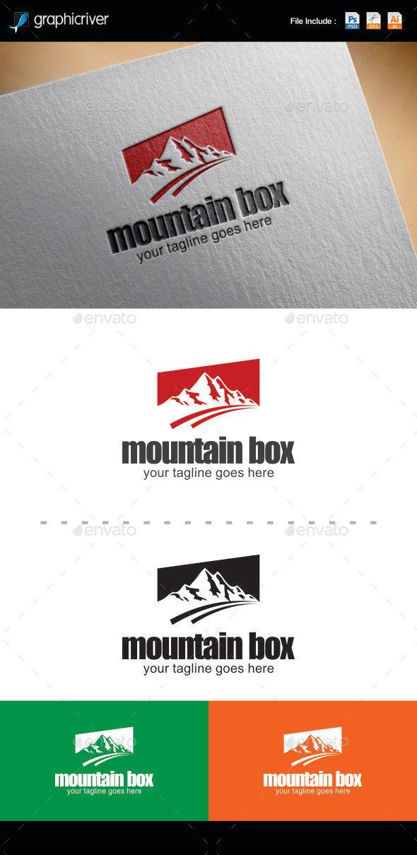 Mountain Box Logo Templates - Logo Templates