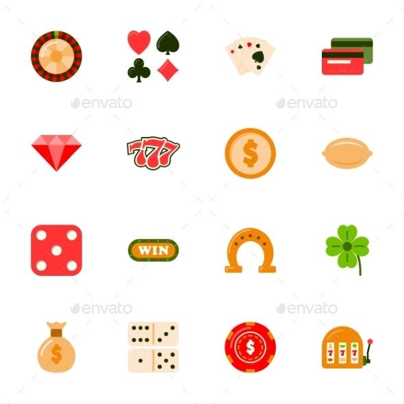 Casino Flat Icons Set - Miscellaneous Conceptual