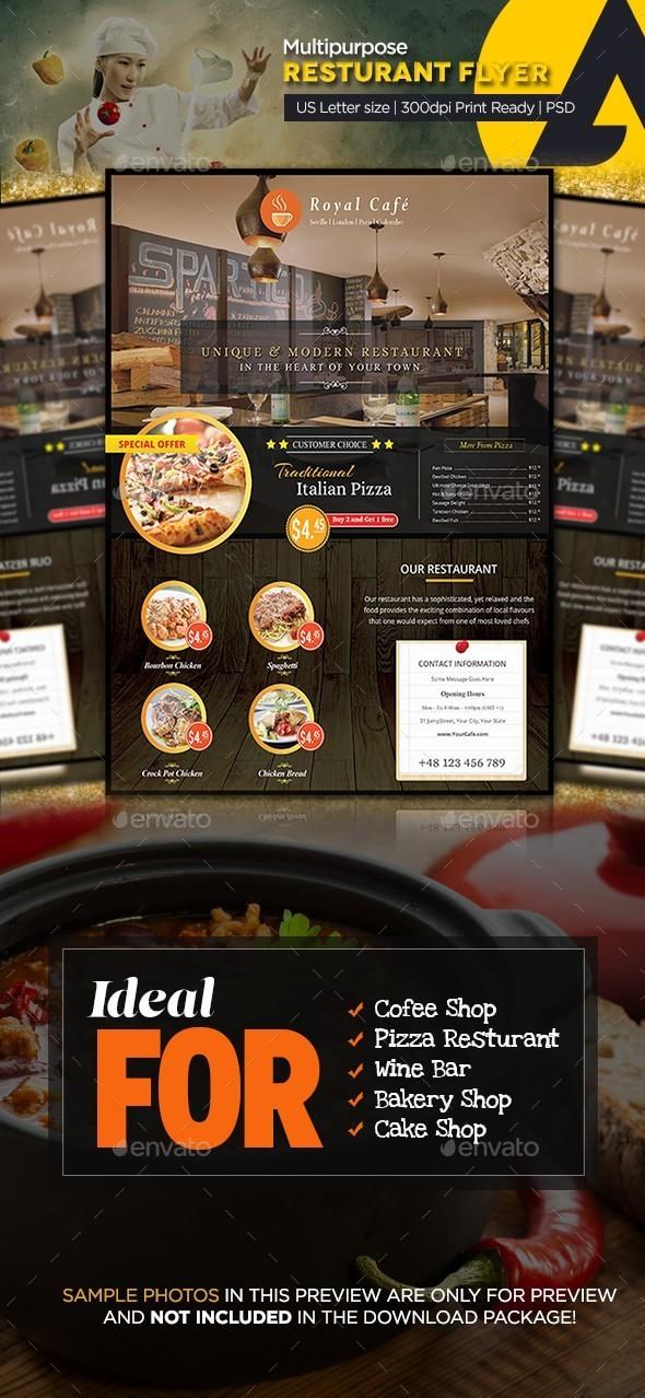 Multipurpose Restaurant Flyer - Restaurant Flyers
