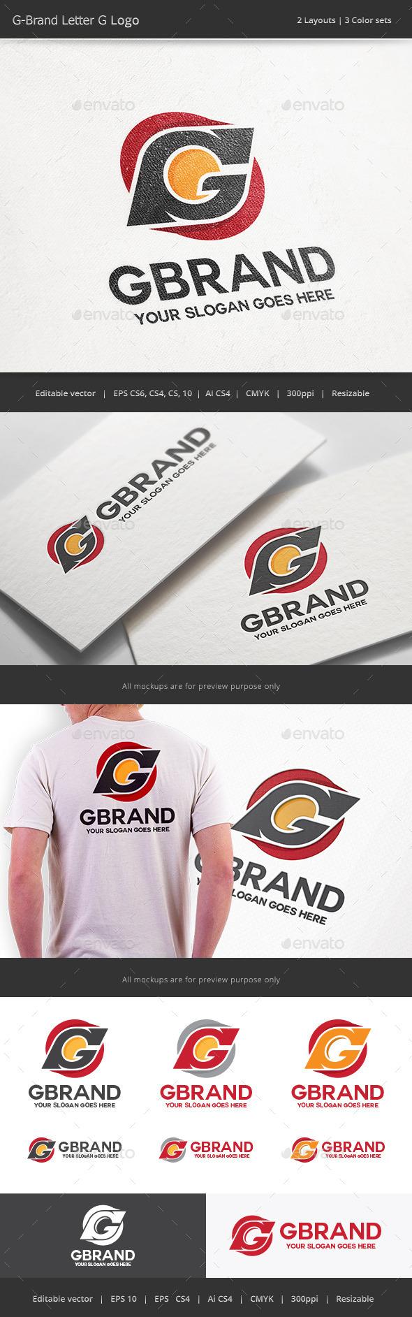 G Brand Letter G Logo - Letters Logo Templates