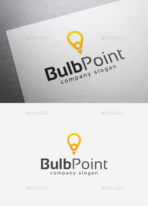 Bulb Point Logo - Objects Logo Templates