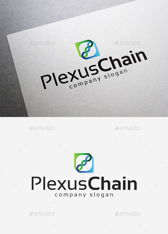 Plexus Chain Logo - Abstract Logo Templates