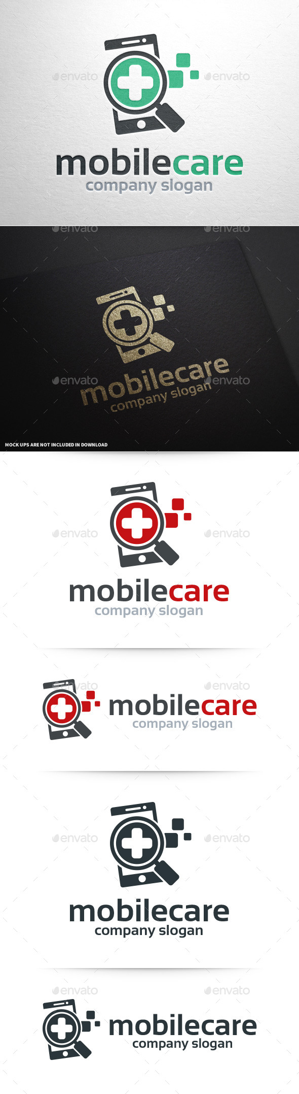 Mobile Care Logo Template - Objects Logo Templates