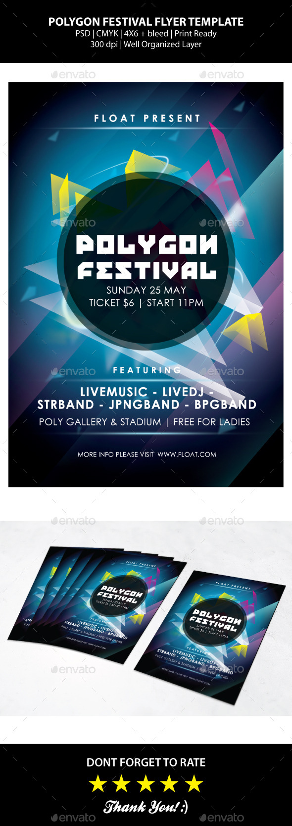 Polygon Festival Flyer Templates - Events Flyers