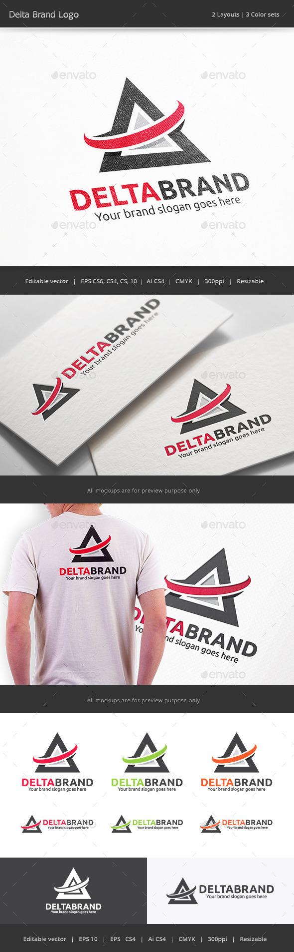 Delta Brand Logo - Vector Abstract