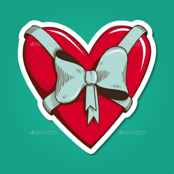 Heart with Bow. - Miscellaneous Seasons/Holidays