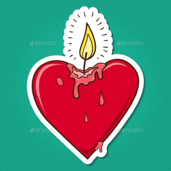 Heart Shaped Candle - Miscellaneous Seasons/Holidays