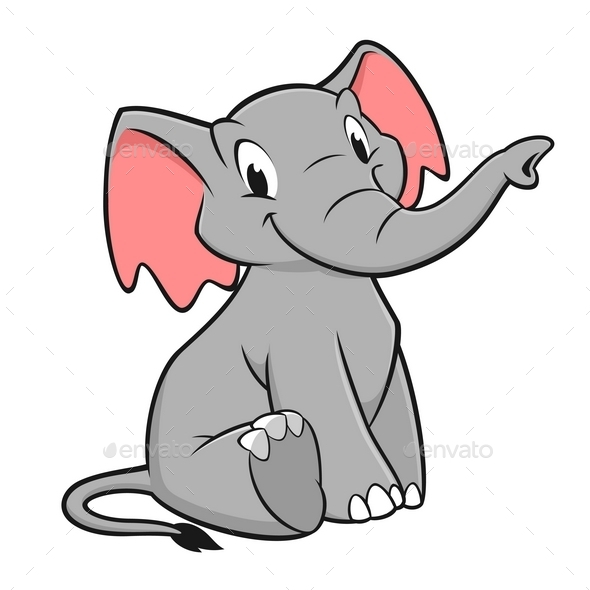 Cartoon Elephant - Animals Characters