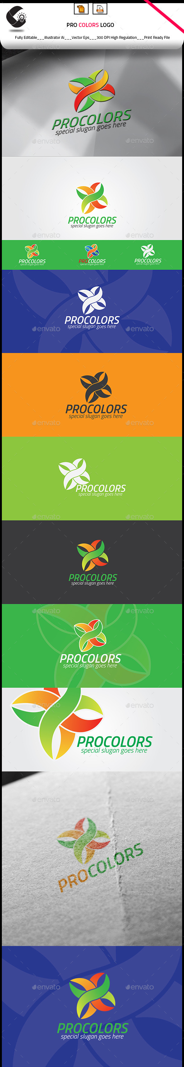 Procolors Logo Template - Nature Logo Templates