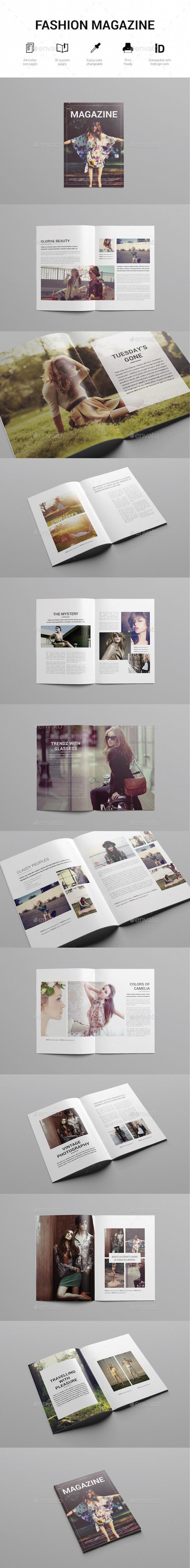 Minimal Fashion Magazine Template - Magazines Print Templates
